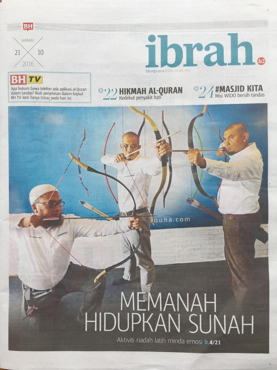 Berita Harian :  Memanah Hidupkan Sunnah